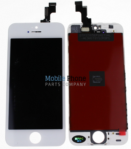 Apple iPhone 5S LCD + Digitiser White - High Quality